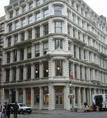 The Gunther Building in Soho at Broome and Greene Streets